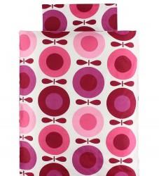 Katvig Classics Sengetøj - Junior - Hvid m. Pink Æbler