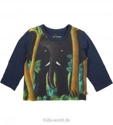 Katvig Scherfig Bluse - Marineblå Elefant print