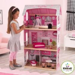 KidKraft Bonita Rosa Dukkehus m/møbler
