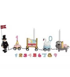 Kids by Friis Fødselsdagstog - 45 cm - Eventyr Pige