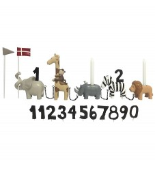 Kids by Friis Fødselsdagstog - 45 cm - Safaridyr