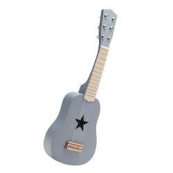 Kids Concept guitar i træ - Grå