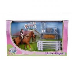 Kids Globe Heste sæt model 2021 (størrelse 1:24)