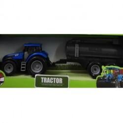 Kids Globe Rød Traktor med vandtrailer 40 cm lang 1:32