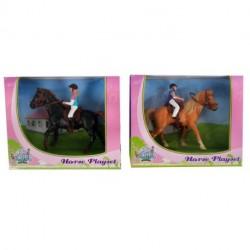 Kids Globe Rytter og Hest 2021 - (1:24 størrelse)