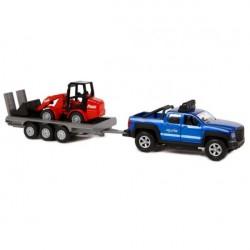 Kids Globe SUV med Trailer og Gravemaskine