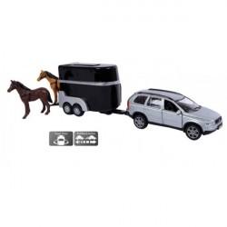 Kids Globe Volvo XC90 Med Hestetrailer med heste