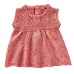 Kjole rosa strik 46-50 cm.