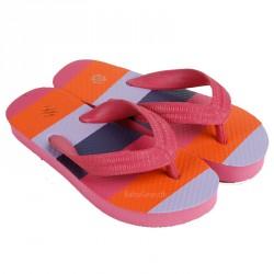 Klip klap sko fra Mikk-Line - Pink m. Striber