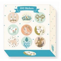 Klistermærker 100 styk Lucille fra Djeco Lovely Paper