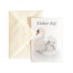 Kort med kuvert Svane fra Solizner