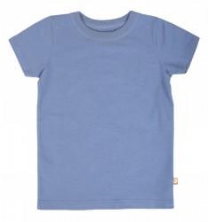 Kortærmet bluse støvet blå