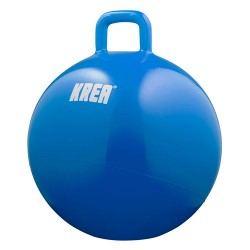 KREA hoppebold - Blå - Inkl. pumpe