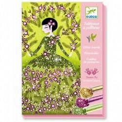 Kreativ æske Glitterkort Kjoler fra Djeco