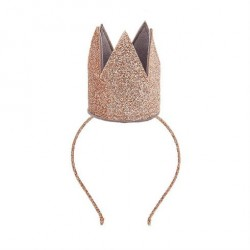 Krone med glitter kobber på hårbøjle MIMI & LULA