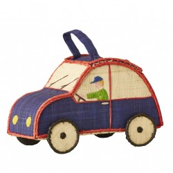 Kurv fra Rice - Bil - Kids Car Shaped Raffia Bag