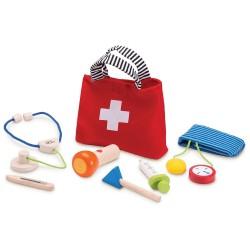 Lægetaske og udstyr
