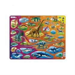 Lærerigt puslespil Dinosaur 85 brikker fra Larsen Puslespil