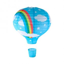 Lampe Luftballon Rispapir Regnbue