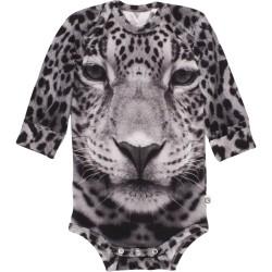 Langærmet body fra Müsli - Spicy Leopard (GOTS)