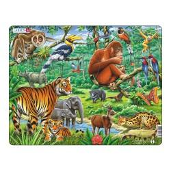 Larsen puslespil - Jungledyr