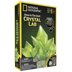 Lav selvlysende krystaller med National Geographic