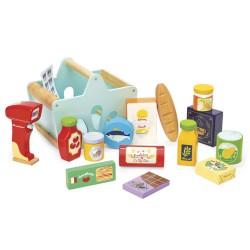 Le Toy Van indkøbskurv med varer