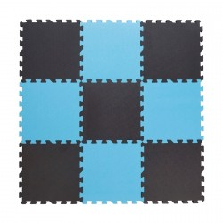 Legegulv fra Babydan - Tykt skum - Grå/Blå (90x90)