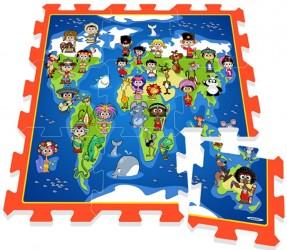 Legegulv med børn og lande