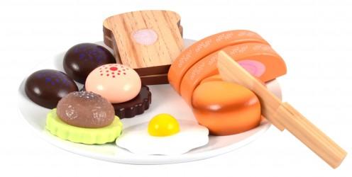Legemad fra Magni - Brød på en tallerken, i træ, med velcro