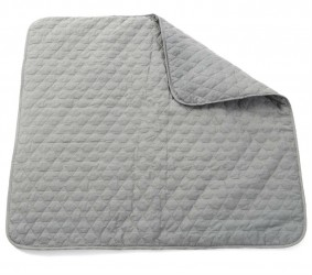 Legetæppe fra Smallstuff - Quilted - Grey (1x1m)