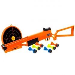 Legetøjsgevær inkl. 6 pile og skydeskive