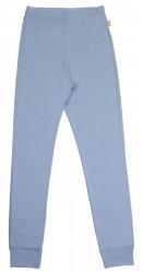 Leggings i lyseblå uld-silke