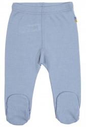 Leggings med fod i lyseblå uld-silke