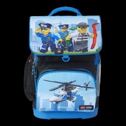 LEGO City Optimo Skoletaske m. gymnastiktaske - Politihelikopter