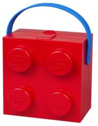 Lego madkasse med håndtag Rød