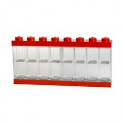 LEGO Minifigure Display Case - 16 figurer - Rød