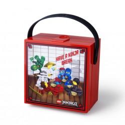Lego Ninjago Madkasse med hank - Rød