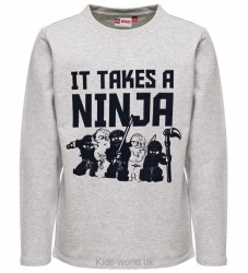 Lego Ninjago Sweatshirt - Sebastian - Gråmeleret m. Print