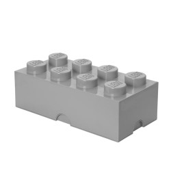 LEGO opbevaringskasse med 8 knopper - Grå