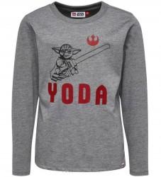 Lego Star Wars Bluse - Gråmeleret m. Yoda