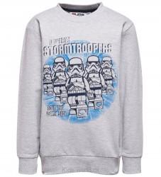 Lego Star Wars Sweatshirt - Gråmeleret m. Stormtroopers