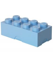 Lego Storage Madkasse - 8 Knopper - Lyseblå