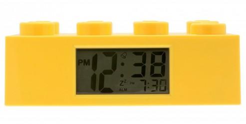 LEGO vækkeur 8 klods gul