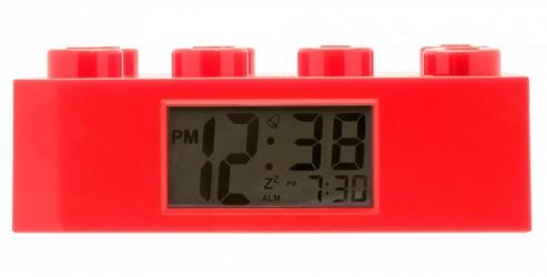 LEGO vækkeur 8 klods rød