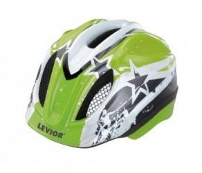 Levior cykelhjelm Primo Str. 46-51 cm - Grøn Stars