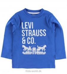 Levis Bluse - Blå m. Tekst