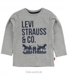Levis Bluse - Gråmeleret m. Tekst