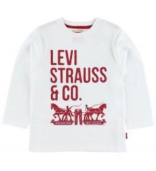 Levis Bluse - Hvid m. Tekst