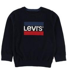 Levis Bluse - Strik - Navy m. Logo